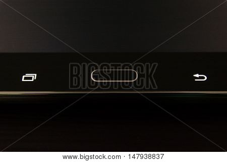 Taskbar Android Black Tablet Corporate Buttons Keys Home Electronic Desk