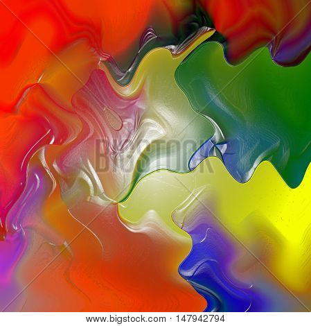 Abstract coloring background of the tropical colors gradient with visual plastic wrap and wave effects