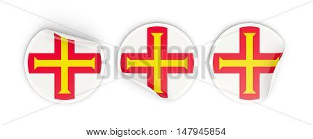Flag Of Guernsey, Round Labels