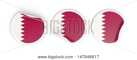 Flag Of Qatar, Round Labels
