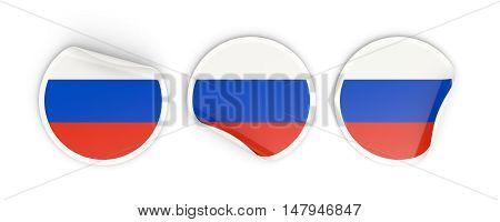 Flag Of Russia, Round Labels