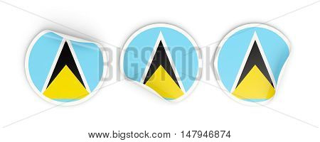 Flag Of Saint Lucia, Round Labels