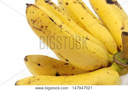 Banana Isolated On White Background Closeup, Food, Nature