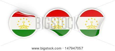 Flag Of Tajikistan, Round Labels