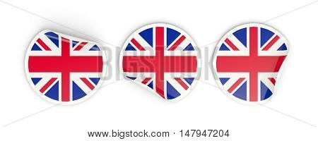 Flag Of United Kingdom, Round Labels