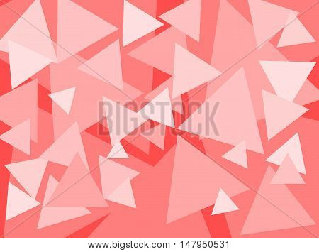 An abstract digital pattern created with triangles of various sizes in shades of pink.