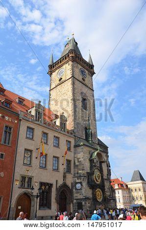 Beautiful Prague Astronomical Clock in Czech Republic