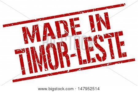made in Timor-Leste. Stamp. Square grunge sign