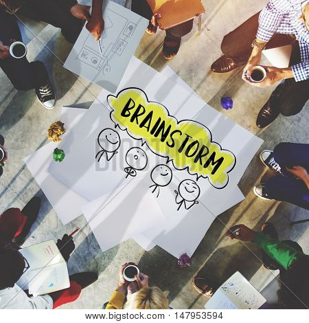Brainstorm Business Work Discusssion Concept