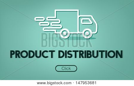 Import Export Shipment Truck Graphic Concept