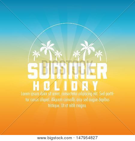 Palm tree icon. Summer holiday and vacations theme. Colorful design. Vector illustration