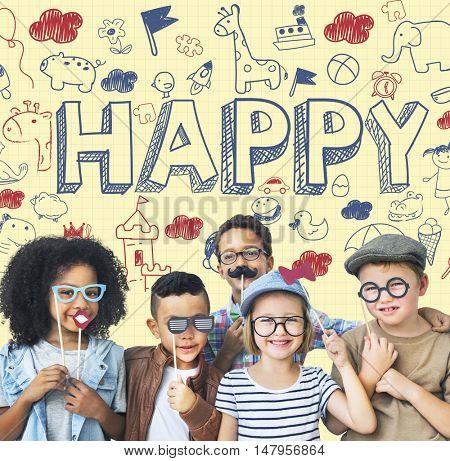 Kids Children Joy Happy Child Concept