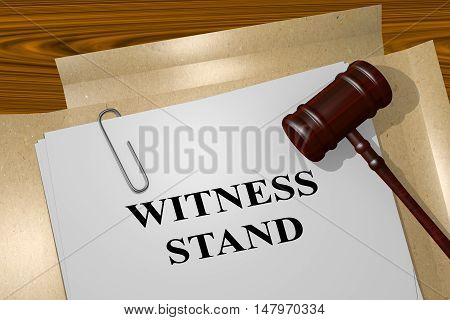 Witness Stand - Legal Concept