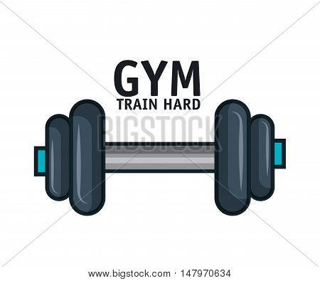 icon barbell gym training hard design vector illustration esp 10