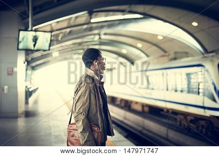 Train Transit Commuter Transportation Urban Concept
