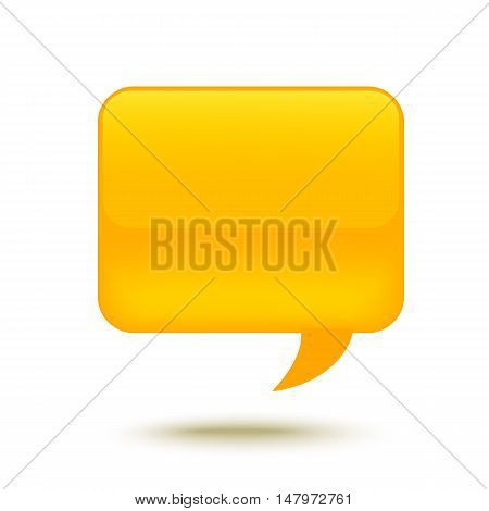 Realistic Glass Speech Bubble for web design. Vector illustration