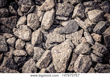 stones rubble closeup background abstract macro, filter