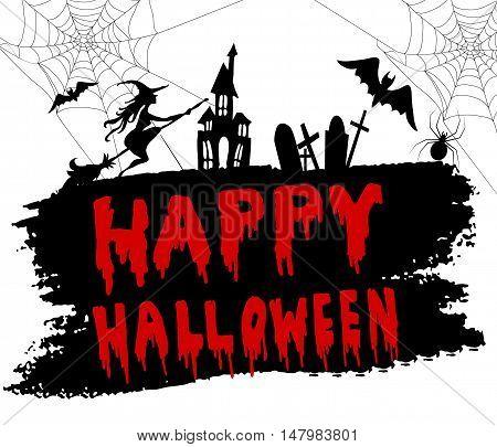 Happy Halloween Calligraphy. Halloween banner. Halloween lettering.