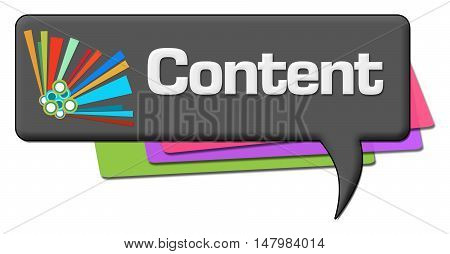 Content text written over dark colorful background.