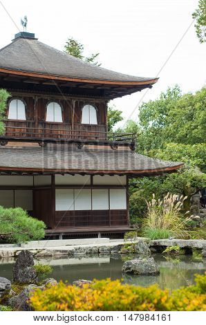 Ginkakuji or silver pavilion is a Zen temple in the Sakyo ward of Kyoto, Japan