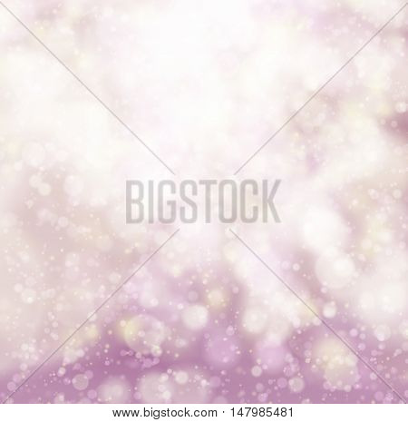 Abstract pink soft bokeh background. Vector illustration