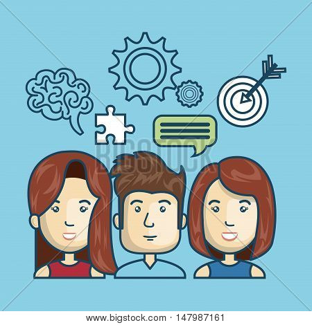 group person idea crestive design vector illustration eps 10