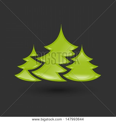 Creative New year tree vector image design