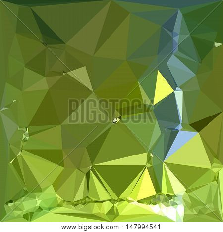 Low polygon style illustration of a chartreuse green abstract geometric background.