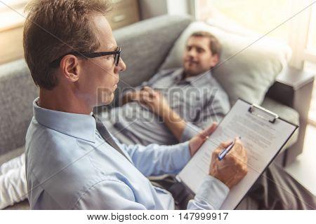 Man At The Psychotherapist