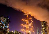 Fireworks from Burj Khalifa on New Year's Eve 2016, Dubai - UAE poster
