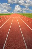 running track on a sunny day poster