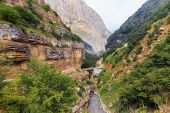 The road in the mountains leading to the village of Griz.Guba.Azerbaijan poster