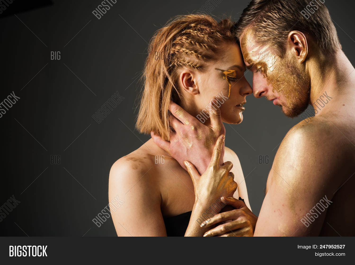 Sexy Couple Golden Image Photo Free Trial Bigstock