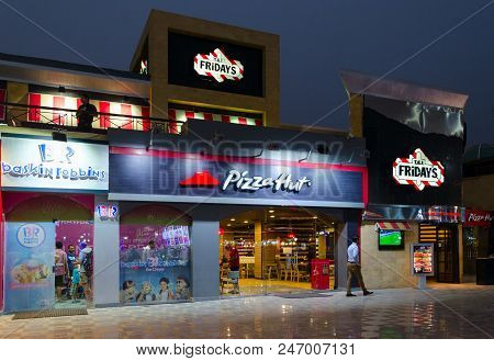 T.g.i. Friday's, Pizza Hut, Baskin Robbins In Popular Shopping And Entertainment District Of Naama B