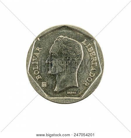 20 Venezuelan Bolivar Coin (1999) Reverse Isolated On White Background