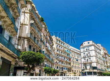 Moorish Revival architecture in Algiers, the capital of Algeria poster
