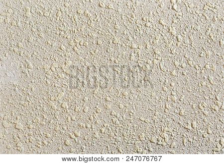 Beige Plaster Textured Background. Abstact Beige Stucco. Texture Of Plaster On The Wall. Close-up, M