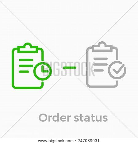 Order Delivery And Logistics Line Icon For Online Shop Web Design. Vector Symbol Of Order Received S