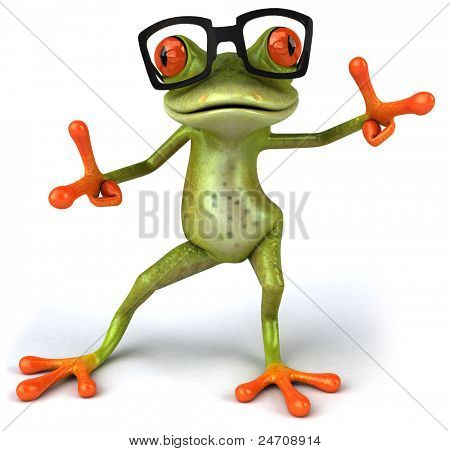Frog and glasses