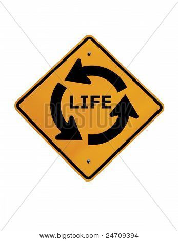 Circle Of Life Street Sign