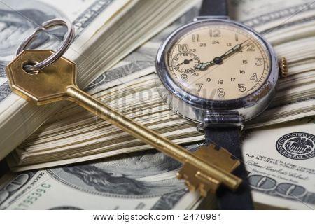 Zeit und Geld Business Erfolg-Konzepte