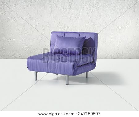 Minimal relax chair isolated in white room