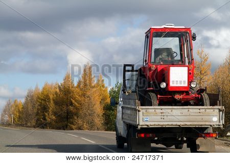 Tractor Is In The Truck