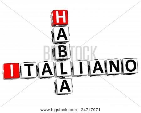 3D Habla Italiano Crossword