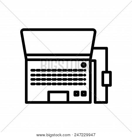 Laptop Notebook Monitor Www Icon Illustration Vector