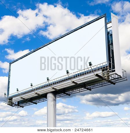 White Canvas Outdoor Advertising