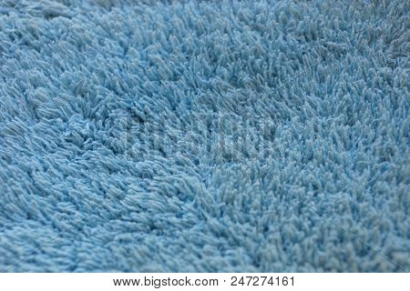 Blue Fabric Texture Of Wool And Lint