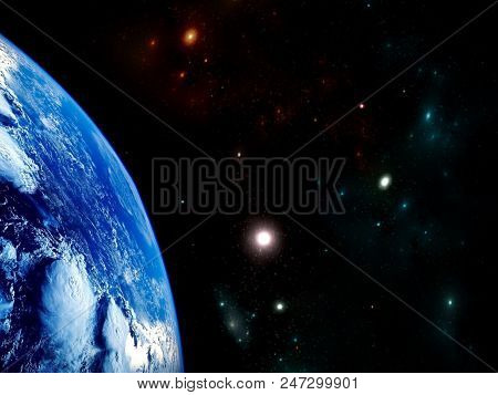 Planets And Galaxy, Cosmos, Physical Cosmology, Science Fiction Wallpaper. Beauty Of Deep Space. Bil