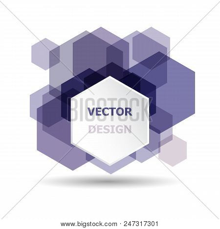 Abstract Purple Hexagon Banner Background Template, Stock Vector