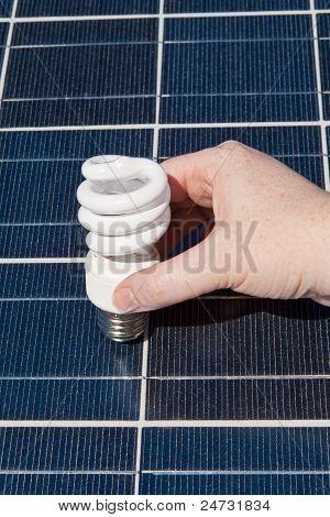 Hand Compact Fluorescent Light Bulbs Solar Panel